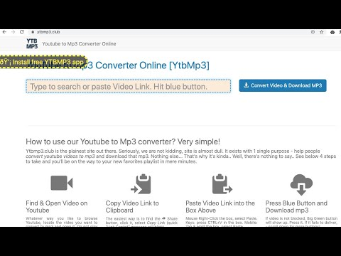 Ytbmp3.club (Youtube to Mp3 Converter Online) pop-up removal.