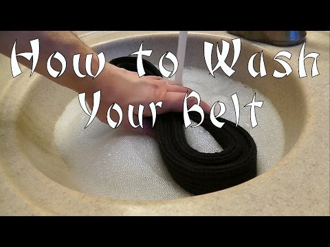 How to Wash your Karate Obi (Belt)