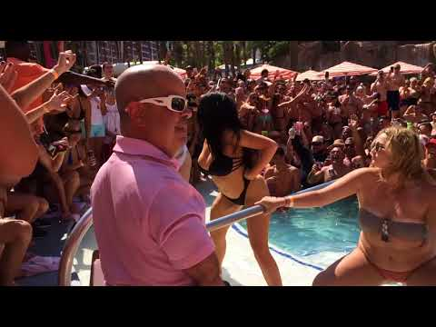 Vegas Holiday Pool Parties at Caesars Palace & The Flamingo