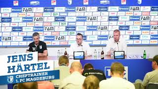 Pressekonferenz 1. FC Magdeburg gegen SG Dynamo Dresden 2:2 (0:2)