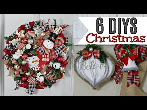 "🎄6 DIY DOLLAR TREE CHRISTMAS DECOR CRAFTS 2019🎄 ""I Love Christmas"" ep22 Olivia's Romantic Home DIY"
