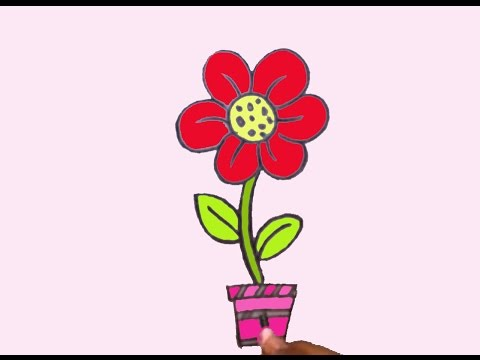 How To Draw Easy Flower For Kids
