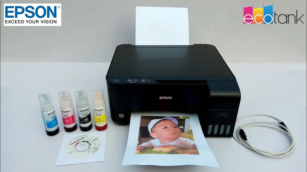 Epson L3110 Complete Installation Process
