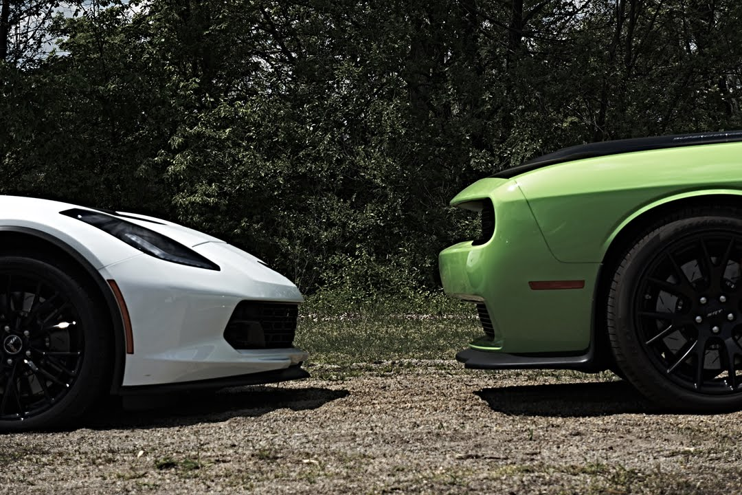 Corvette C7 Z06 Vs Dodge Hellcats Vs Srt Viper Street