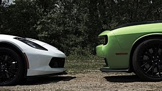 Corvette C7 Z06 vs Dodge Hellcats vs SRT Viper Street Racing