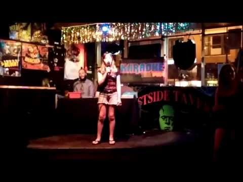 Samantha's first Missouri karaoke