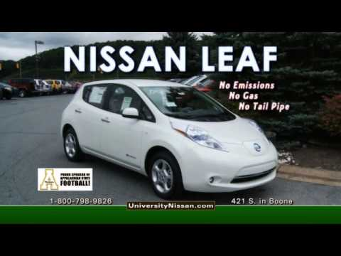university nissan nissan leaf 100 electric vehicle. Black Bedroom Furniture Sets. Home Design Ideas