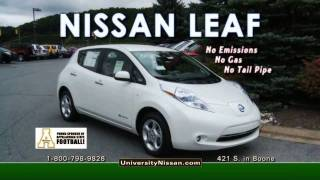 University Nissan - NISSAN LEAF - 100% Electric Vehicle - John Cook General Manager