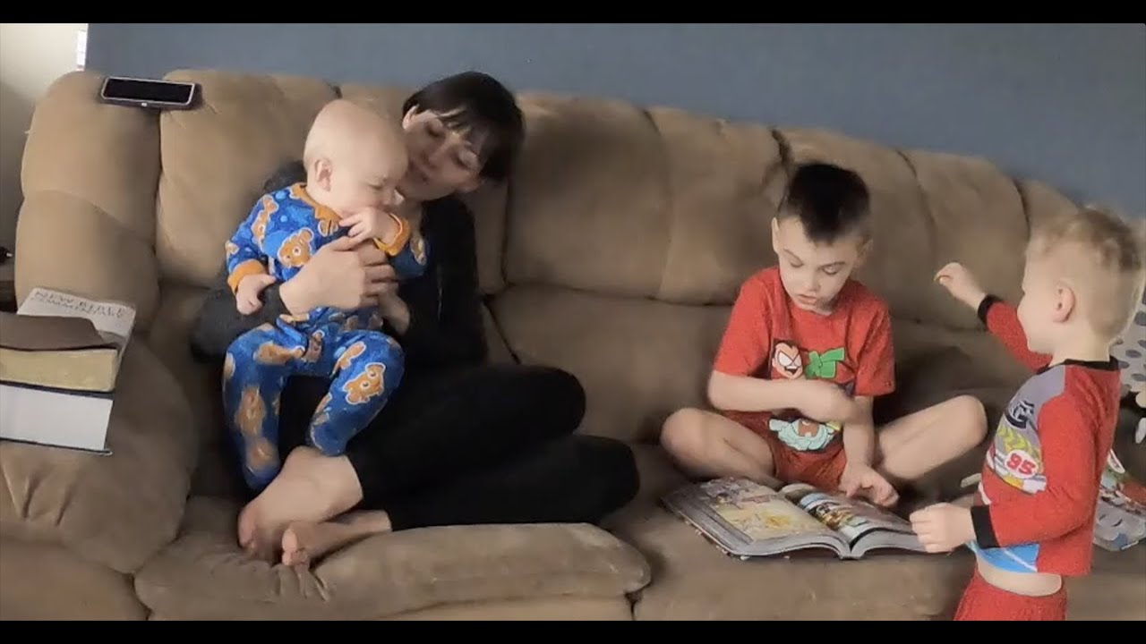 Bible Time with Mommy and Three Busy Boys