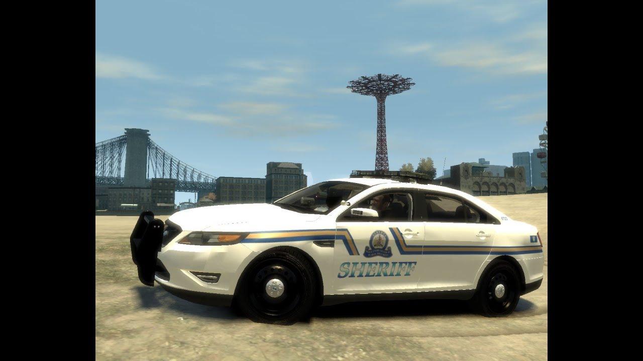 Gta Iv Pc Alberta Skins For Ford Taurus Police Interceptor Youtube