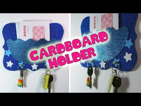 Cardboard Key And Letter Holder | How To Make Sparkly Holder | Cardboard Crafts