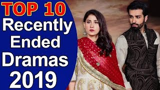 Top 10 Recently Ended Pakistani Dramas 2019