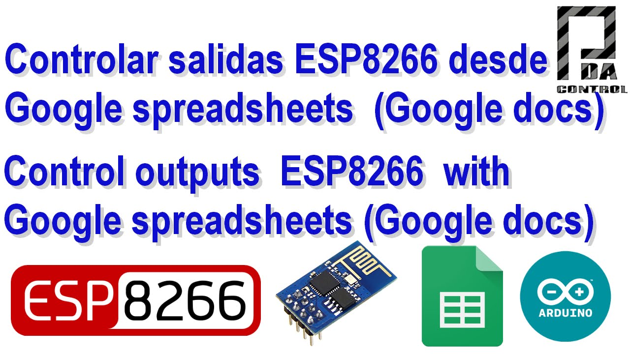 Send Email with ESP8266 (Google Docs) Google Script App +Google