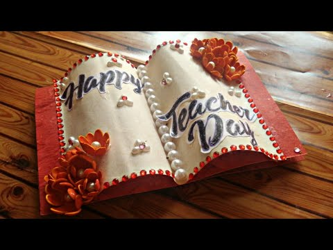 How to make DIY greeting card   Teachers day special   foam flowers   Graduation day  