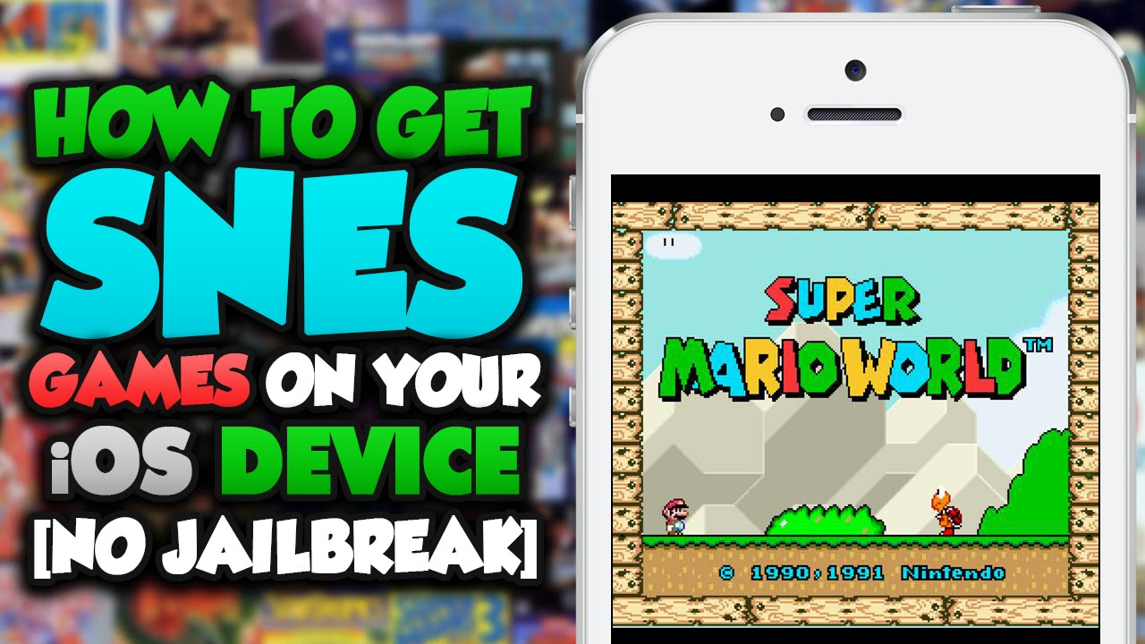 Juega a la Super Nintendo en tu iPhone con este Truco sin