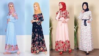 Sefamerve - Her Mevsime Uygun Desenli Kemerli Elbise Modelleri 1/4