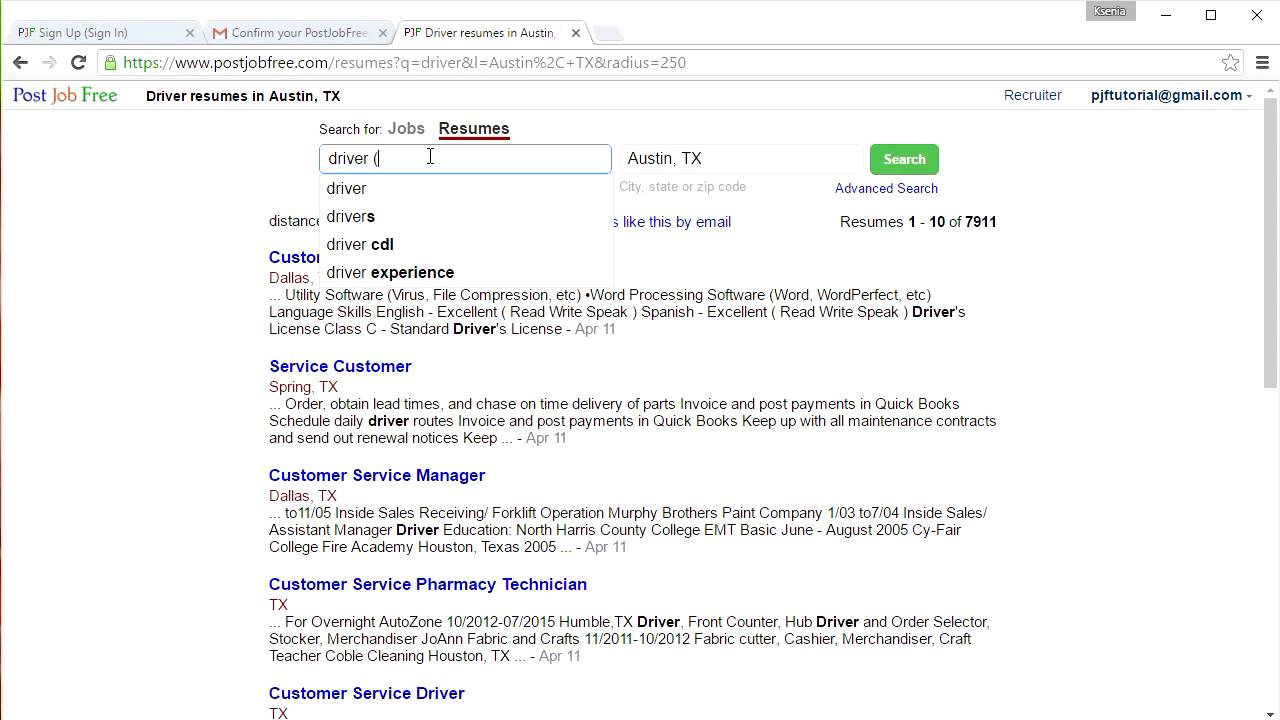How to Create Resume Search Alerts - YouTube