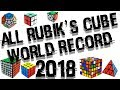 ALL RUBIK'S CUBE WORLD RECORD 2018!
