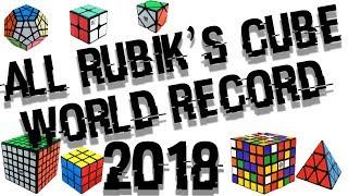 ALL RUBIK'S CUBE WORLD RECORD 2018!