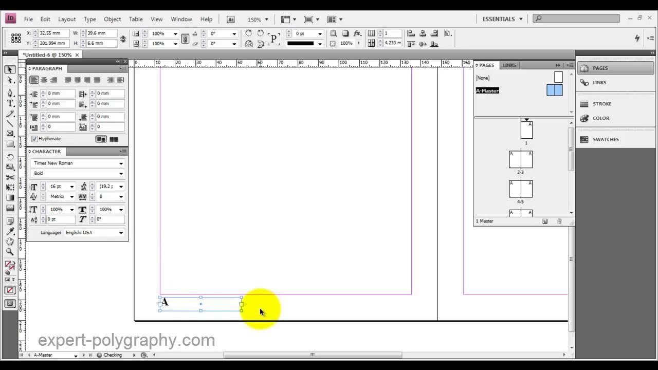 Индизайн как сделать обложку
