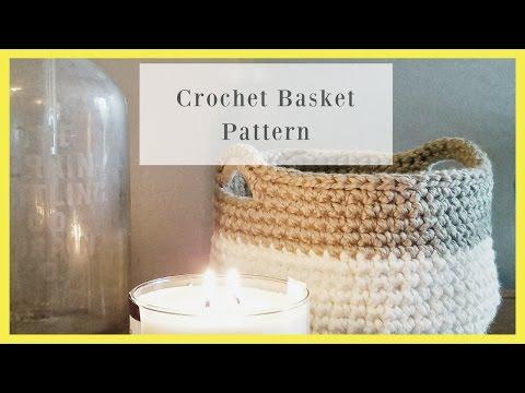 Crochet Basket-Bowl- Free Pattern