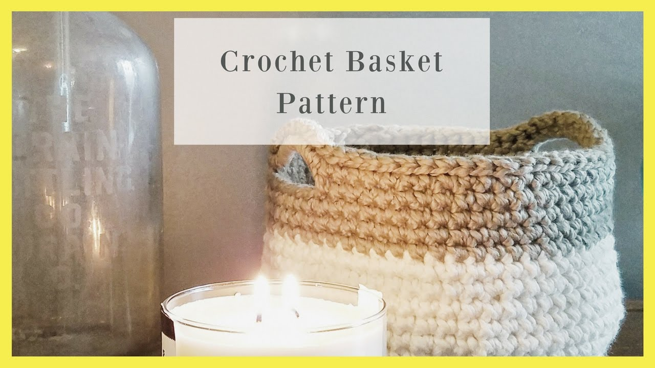 Crochet Basket Bowl Free Pattern Youtube