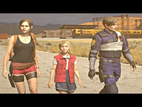 Resident Evil 2 Remake - All Endings (Leon & Claire) RE2 Remake 2019 PS4 Pro