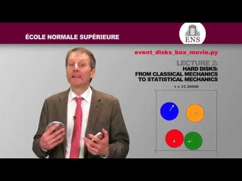 Lecture 2  Hard disks  from Classical Mechanics to Statistical Mechanics   École normale supérieure