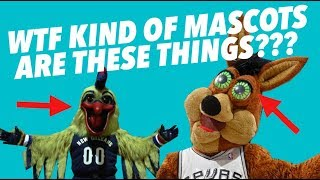 CRITIQUING every RIDICULOUS NBA MASCOT -  These Can't Be Real