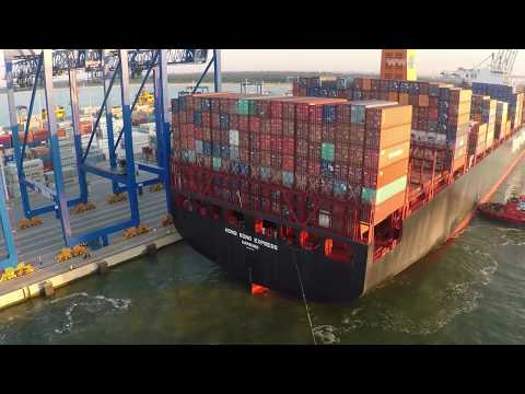 The maiden call of the Hong Kong Express | Hapag-Lloyd