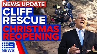 Woman falls off cliff, Australia confident to be open by Christmas   9 News Australia