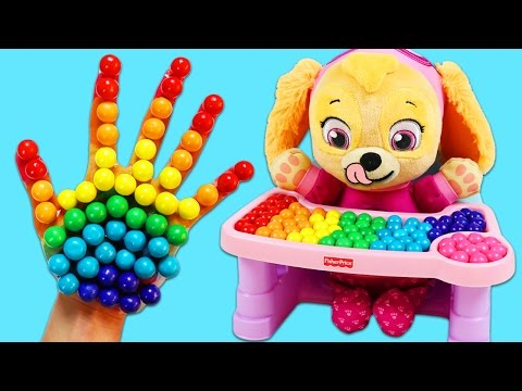 Thumbnail: FINGER FAMILY Nursery Rhymes with Baby Skye Paw Patrol Pup Best Learning Colors Video for Children!