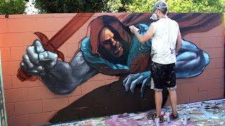 Graffiti Yard Boogie - Superhero Mural