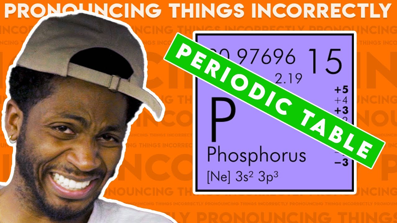 Pronouncing Things Incorrectly: Periodic Table Edition