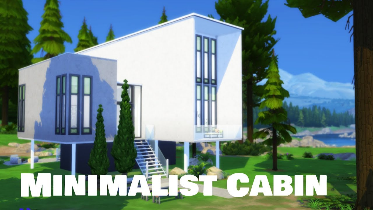 Sims 4 House Building Minimalist Cabin Youtube