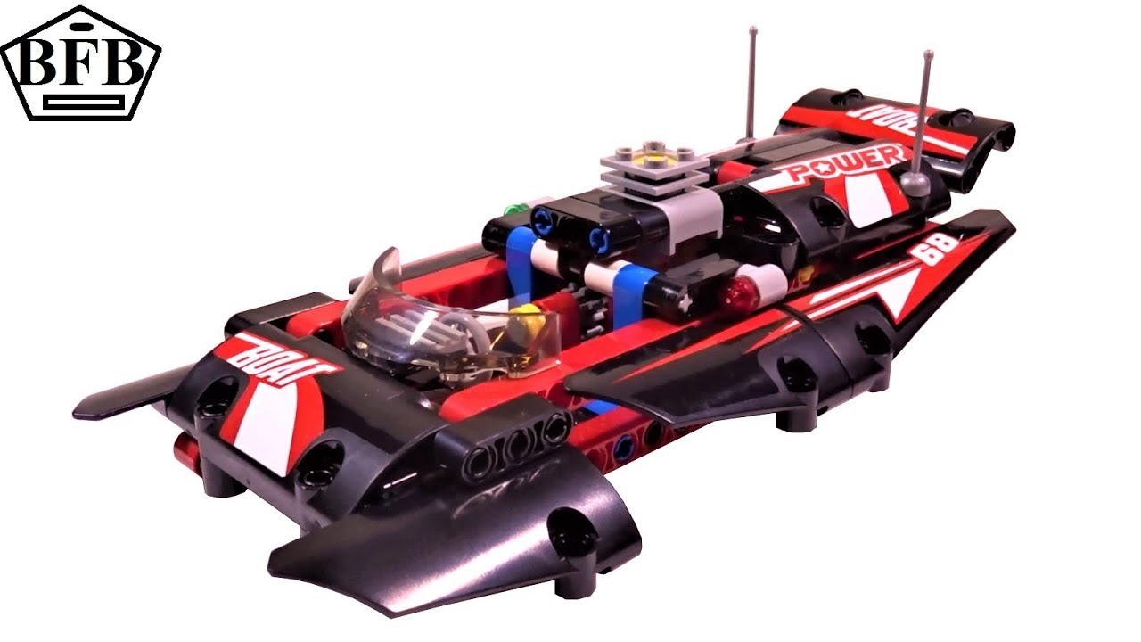 Lego Technic 42089 Rennboot Power Boat Lego Speed Build Review