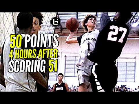 Thumbnail: LaMelo Ball BACK TO BACK 50 Point Game!! But Was It Enough? Melo Tries To POSTER Defender Lol!
