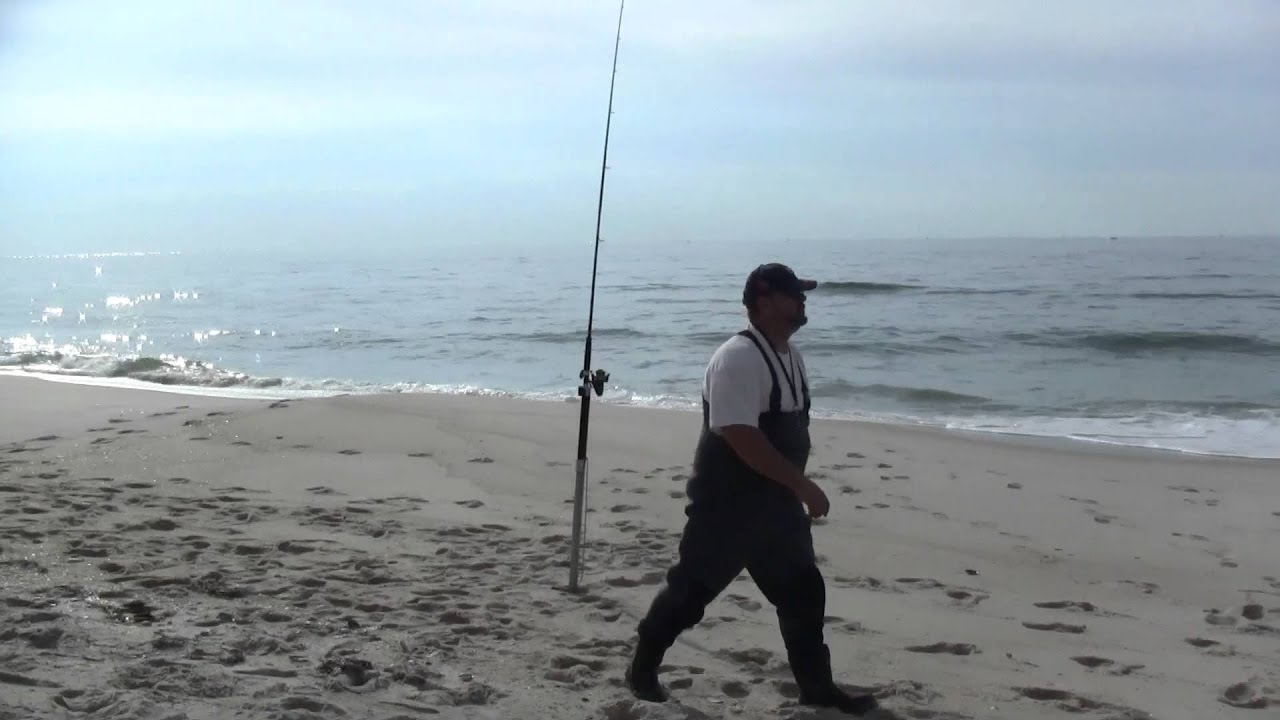 surf fishing long island youtube