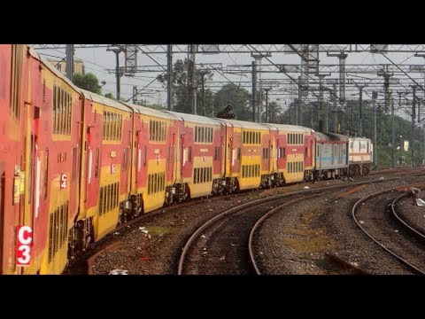 Full Journey Compilation : Chennai Bangalore Double Decker Express INDIAN RAILWAYS