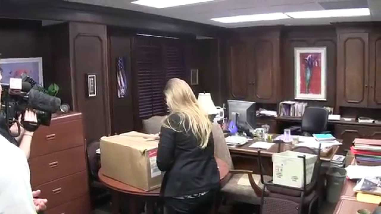 boxed marijuana petition signatures taped up by oklahoma