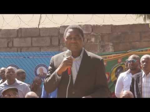 Hakainde Hichilema press briefing in Lusaka