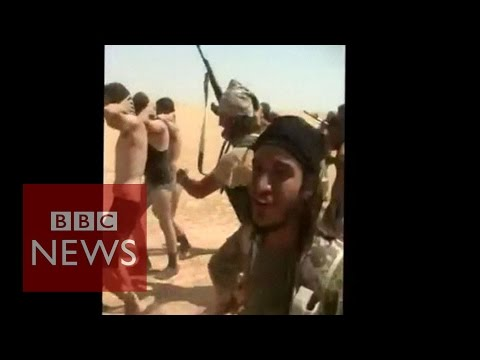 Subscribe to BBC News www.youtube.com/bbcnews Dozens of Syrian army soldiers appear to have been killed by Jihadist militants from Islamic State (IS), activists say. ***THIS VIDEO CONTAINS SOME DISTURBING IMAGES*** Subscribe to BBC News HERE http://bit.ly/1rbfUog Check out our website: http://www.bbc.com/news  Facebook: http://www.facebook.com/bbcworldnews  Twitter: http://www.twitter.com/bbcworld Instagram: http://instagram.com/bbcnews