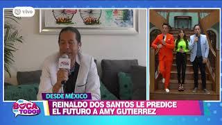 Amy Gutiérrez quedó impactada con predicción de Reinaldo Dos Santos