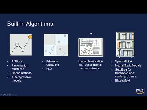 Machine Learning with Amazon SageMaker, algorithms and