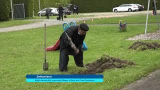 Switzerland 2021 Majlis Ansarullah organised waqareamal and tree plantation in Nuur Mosque