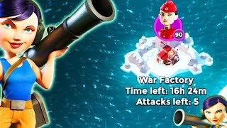 Boom Beach ALL ZOOKAS vs War Factory