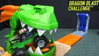Hot Wheels Monster Jam Dragon Blast Challenge Playset Review By RaceGrooves