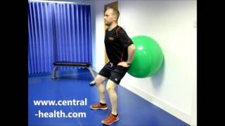 Squat with Gym Ball
