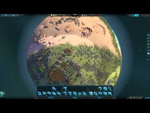 Planetary Annihilation 10 Player FFA - Pushing at all sides!