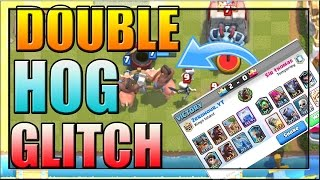 CLASH ROYALE DOUBLE HOG RIDER GLITCH Challenge Best Deck How  To Win And Funny Moments No Hack